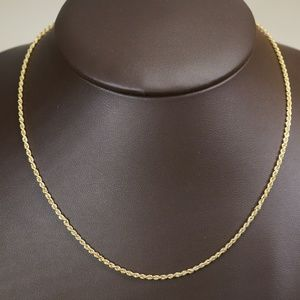 14KY Gold 18 Inch Rope Chain